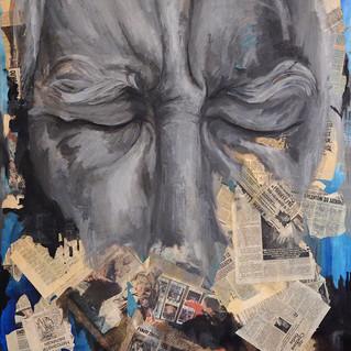 Expressions 23, 146x114 cm, mixed media