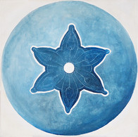 Web Cosmic'Eye NGC 0307, 30x30 cm, Oil o