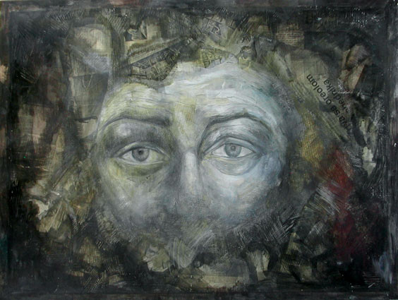 Expression 20, 55x65 cm, mixed media on
