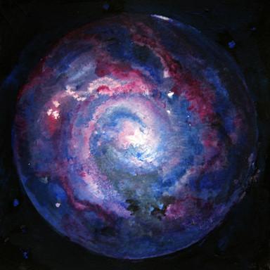 Cosmic'Eye NGC 01552, 15x15 cm, acrylic