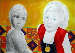 Childhood - Enfance 7, 55x65 cm, mixed m