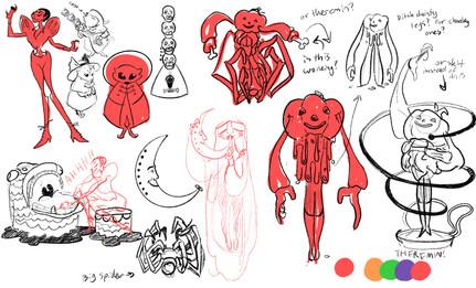 Spooky Band Character Thumbnails