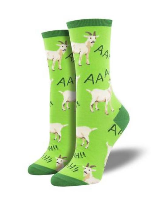 Women's Screaming Goat Crew Socks