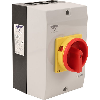 Stag 63A 4 Pole IP65 Rotary Isolator