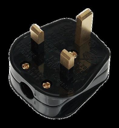 Click Essentials 13A Rewireable Plug Top Black