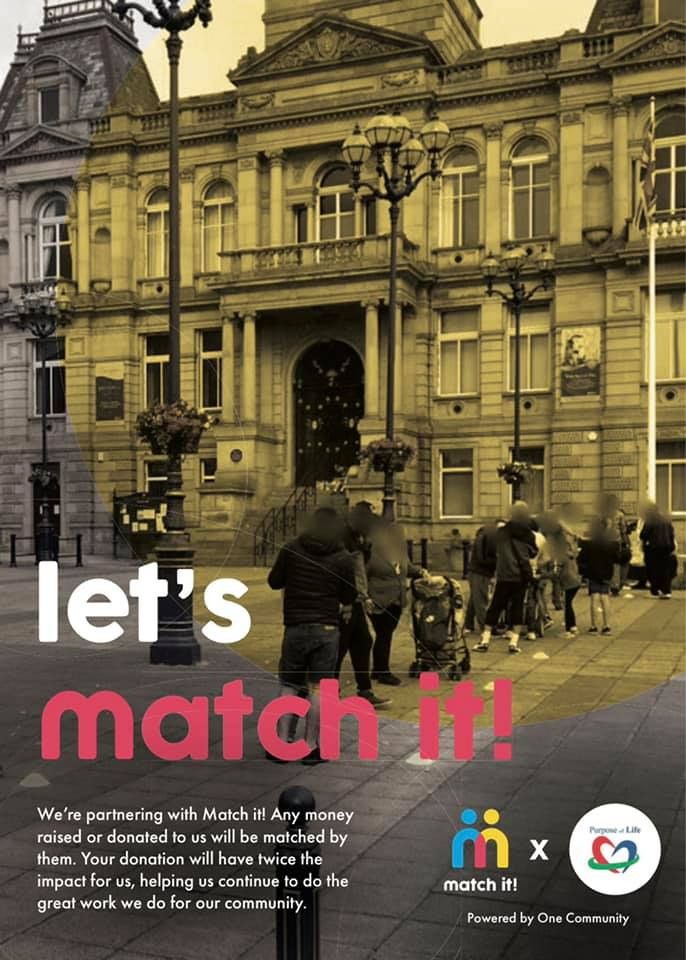 Lets Match It campaign poster for Kirklees council