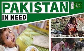 Poster depicting suffering in Pakistan