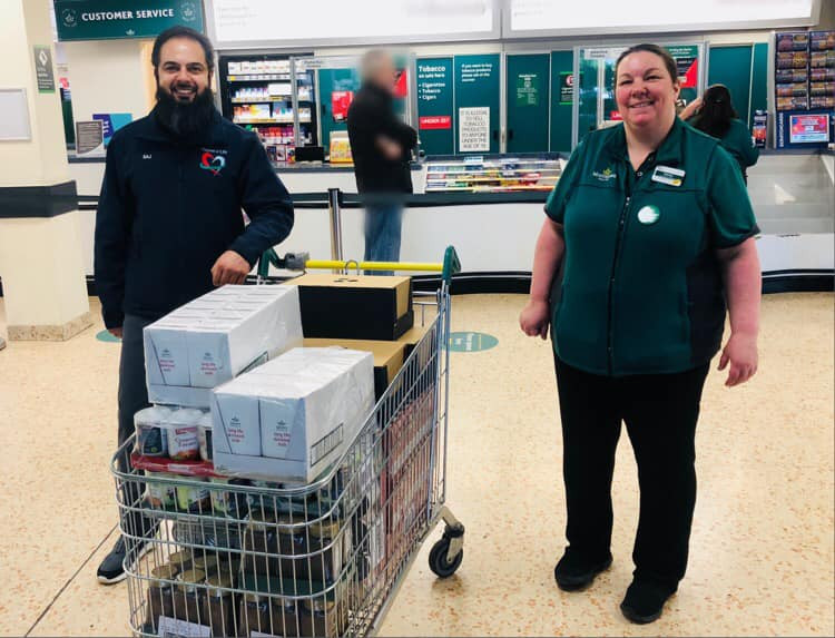 collecting donations for Purpose of life Charity from Morrisons