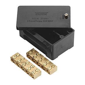 Click Essentials 100A Double Pole Link Box 5x35mm²