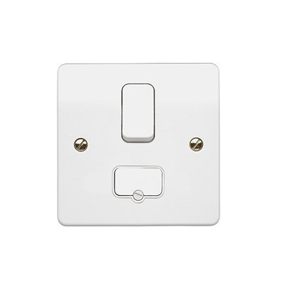 MK K330WHI Fused Connection Unit (Spur) 13 Amp Switched & Flex Outlet