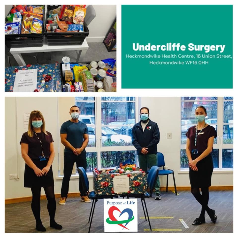 Charity donation to purpose of life from Undercliffe Surgery