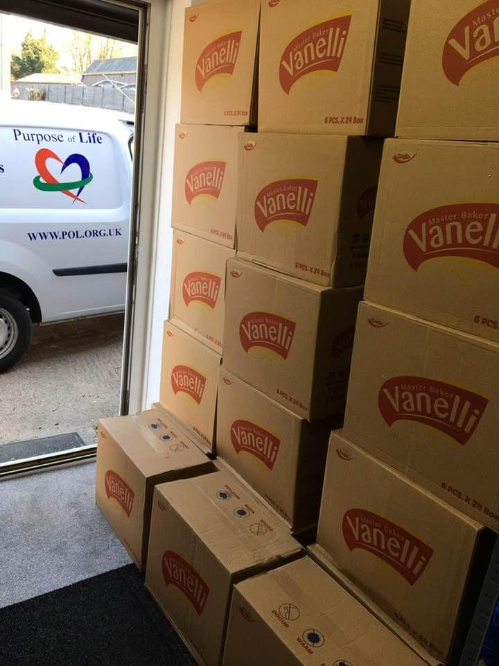 Large food donation to Purpose of Life Foodbank