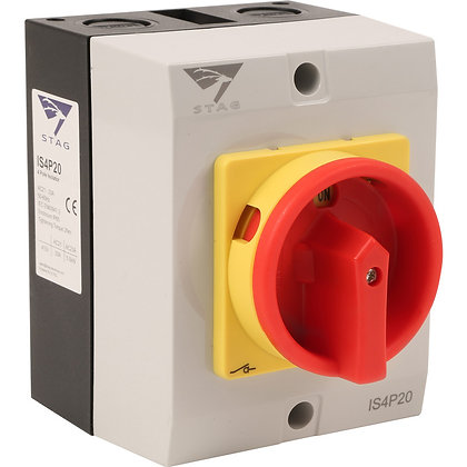 Stag 20A 4 Pole IP65 Rotary Isolator