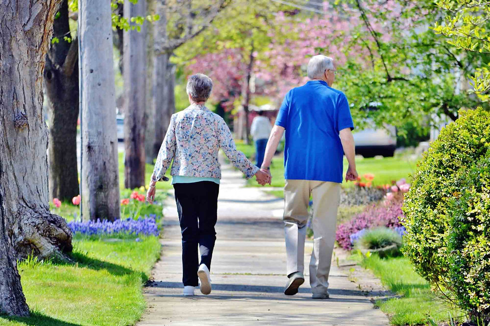 Baby Boomers taking a walk