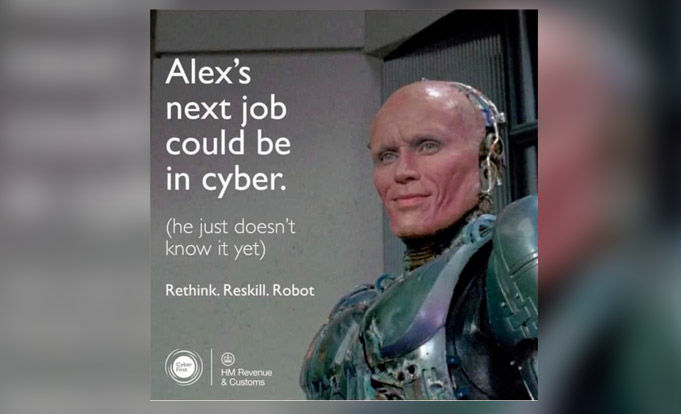 meme of Cyber advert from the British goverment