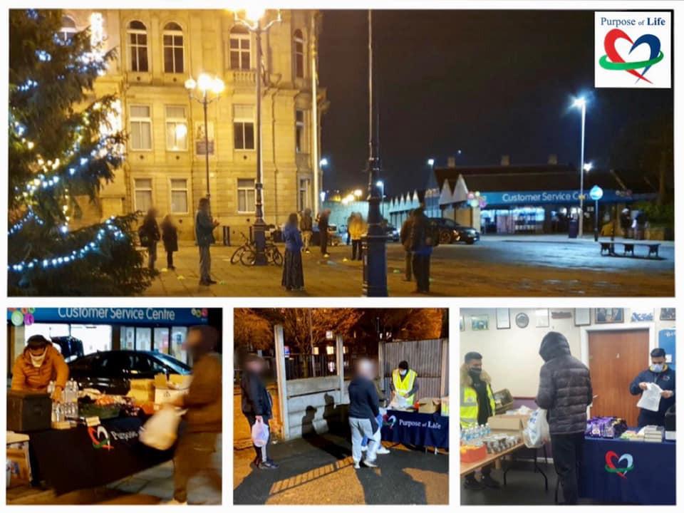 Purpose of Life Charity donating food at Christmas