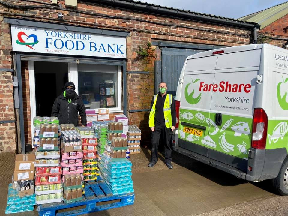 Foodbank donation by Al Mubarak Radio