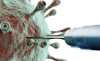 Vaccine injecting Coronavirus