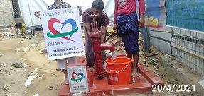 New water well in Rohingya