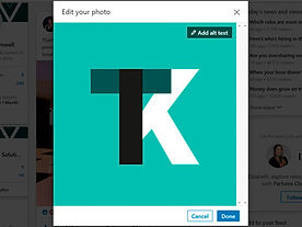 ITK logo being edited to make it accessible