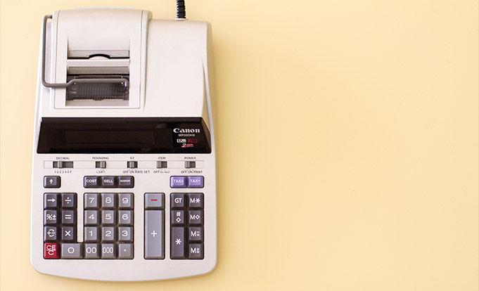 Tax Calculator on yellow background