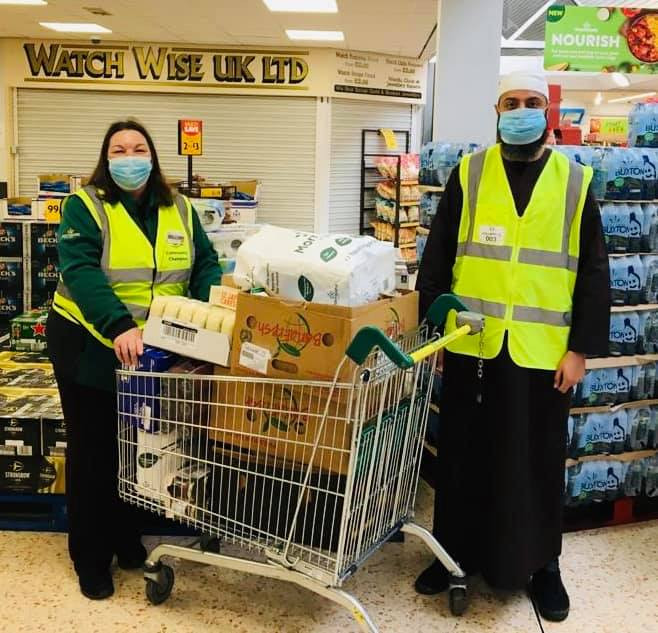 Purpose of Life Charity collecting a food bank donation from Morrisons Heckmondwike