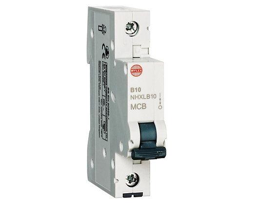 Wylex NHXLB10 10A 6KA Single Pole Miniature MCB Type B