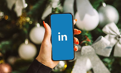 linkedIn logo on phone