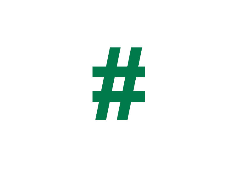 picture of a green hashtag symbol