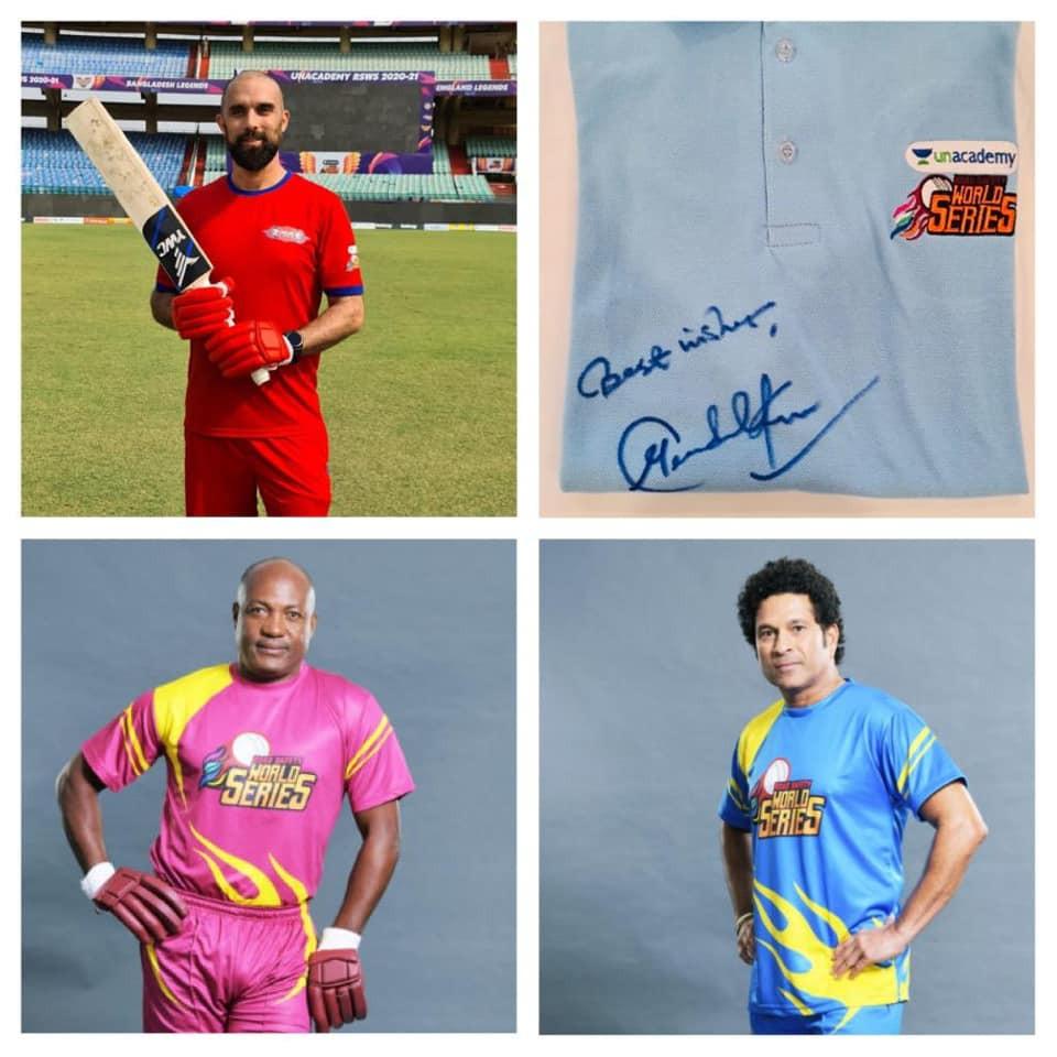 Signed cricket shirts.