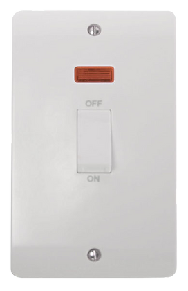Click Mode 45A Double Plate Vertical Cooker Switch with Neon