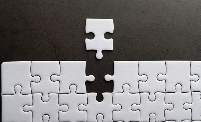 Making a puzzle piece connect together.