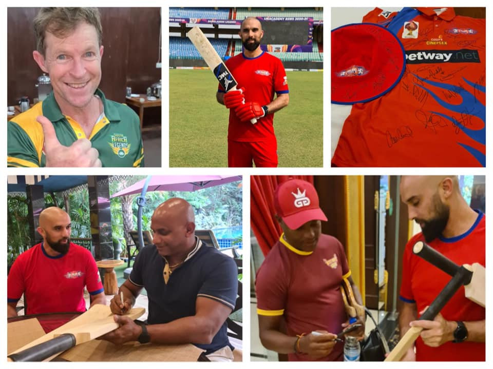 Cricket supporters of Purpose of Life Charity
