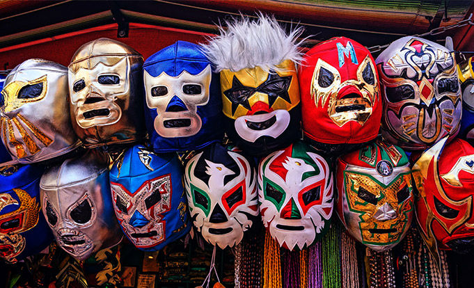 Mexican Wrestling masks being sold
