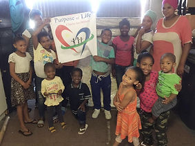 Child in south Africa celebrating purpose of life donation