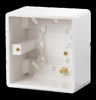 Click Mode 1 Gang 47mm Moulded Pattress Box
