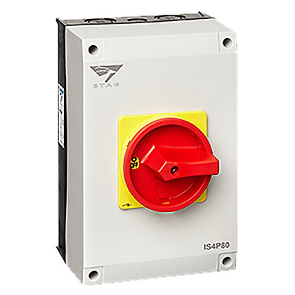 Stag 80A 4 Pole IP65 Rotary Isolator