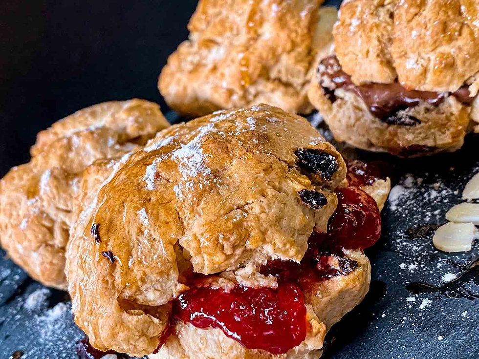 British Cream and scones