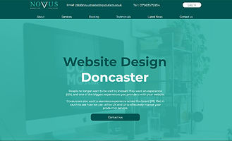 Novus home page with call to action