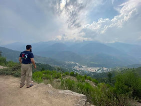Saj from Purpose of life looking out over Kashmir