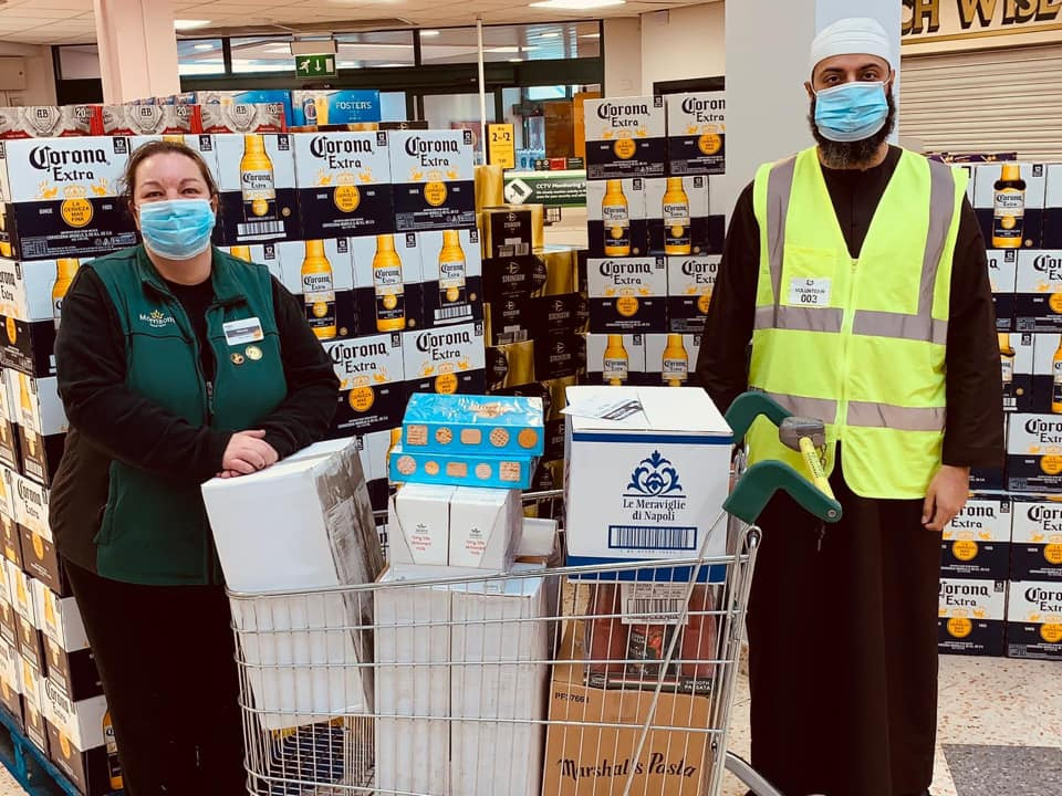 Purpose of life collecting a charity donation from Morrisons in Heckmondwike