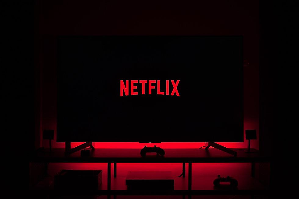 Netflix logo on a dark background