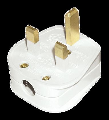 Click Essentials 13A Rewireable Plug Top White