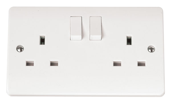 Click Mode 13A DP 2 Gang Switched Socket