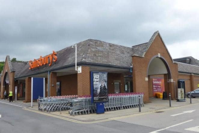 Exterior shot of Sainsburys in Dewsbury