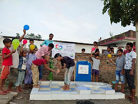Water well constructed in India