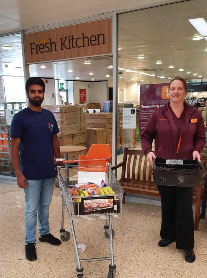 Collecting donation from Sainsburys in Dewsbury for Purpose of life Charity