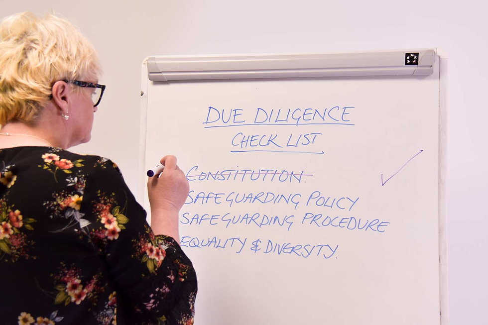 Wendy Ward creating a Due Diligence Checklist
