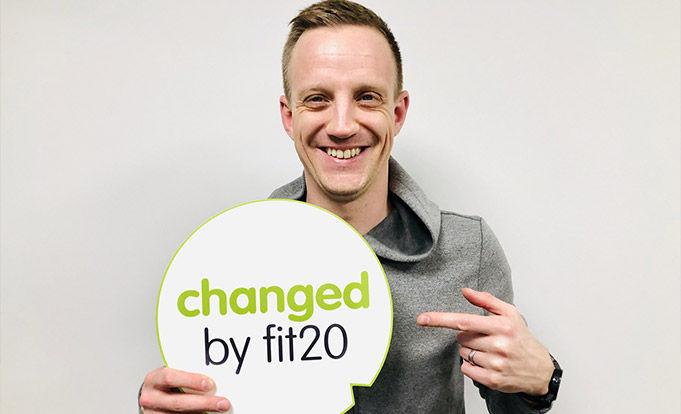 Matt Appleby with a Fit20 logo