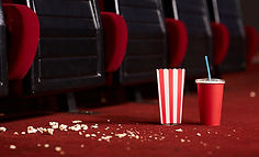 Empty dirty cinema seats